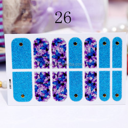 retro glitter grid nail polish fashion style 2D vinyl nail wrap nail accessory shiny colorful