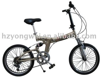 "20"" alloy suspension folding bicycle"