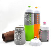 Outdoor Silicone Foldable Cheap BPA Free Water Bottle sport products
