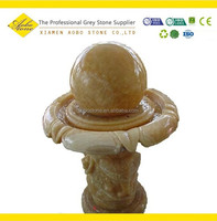 Small size Honey Onyx Indoor rolling marble ball fountain