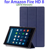 Flip Leather Back Cover Case for Amazon Fire HD 8 Protective Cover, Tablet Case for Amazon Fire HD 8