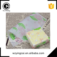 Gold metallic folding soap high end printing size wax tissue paper