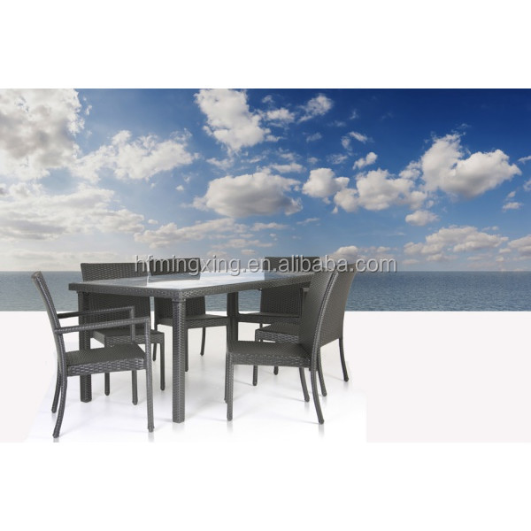 Hotsale outdoor wicker rattan furniture dining table and chairs ratan dining set furniture