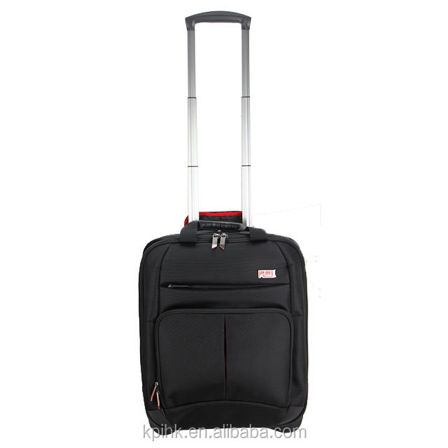 business airport suitcase 1680D nylon carry on laptop trolley travel bag