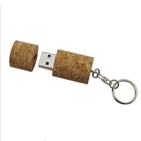 red wine cork shape usb flash drive and wooden pen drive with keychain