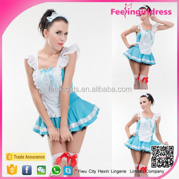 New arrival fashion hot latex maid costume