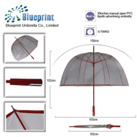 customized clear bubble umbrella unbrellas in bell shape