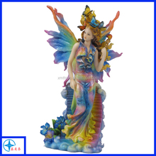 3D beautiful colorful fairy girl with butterfly