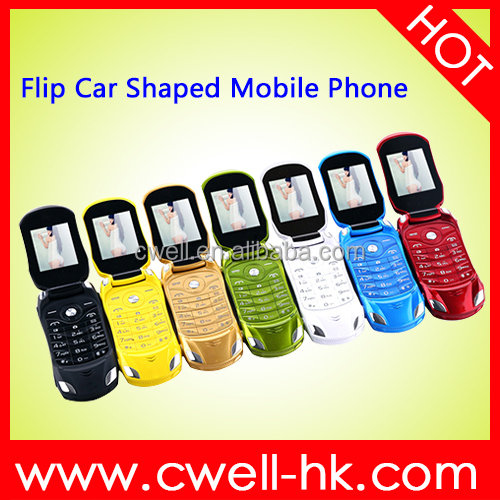 NEWMIND F15 Flip Car Shaped Mobile Phone China Senior Phones 1.77 inch Dual SIM Support FM Bluetooth Unlocked