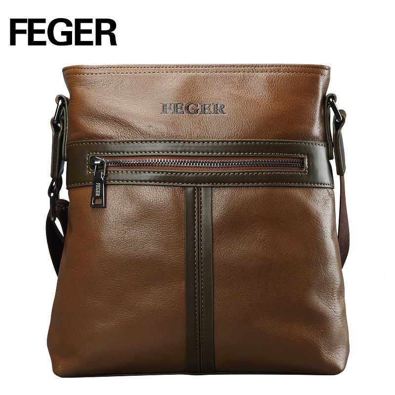 2015 Best Quality Genuine Cow Leather Man Crossbody Shoulder Bags