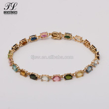 Trendy new model natural gemstone bracelets,new gold bracelet designs