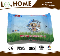 OEM pet teeth wet tissue paper