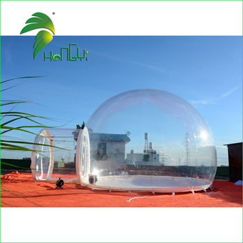 Transparent Inflatable Bubble Tent / Camping Clear Tent / Air White Round Lawn Tent for Outdoor Entertainment
