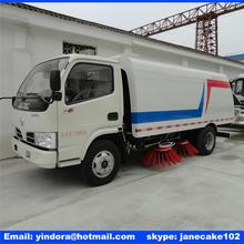 dongfeng 4x2 5.2 cubic meters vacuum snow removal mounted sweeper truck