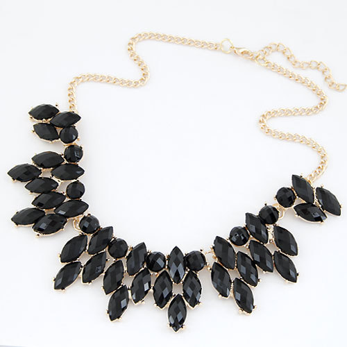 Fine Jewelry  Maxi Collares Choker Statement Necklaces & Pendants Imitated Gemstone Collier Femme for Women Accessories 2016