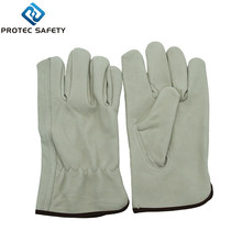 yellow cow grainl welding leather working gloves