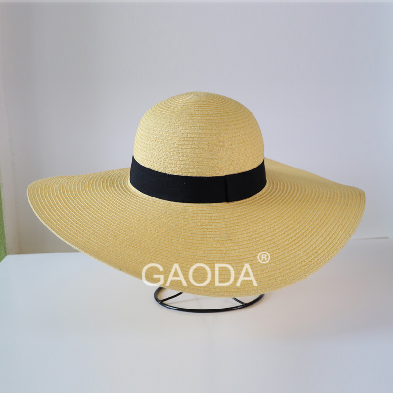 Summer beach hat wide brim straw hats for women