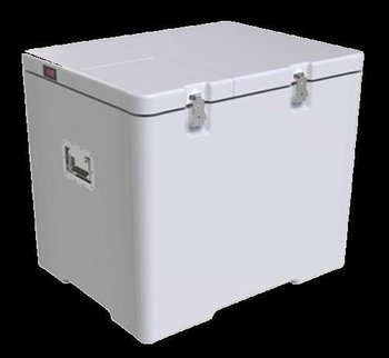 Dry ice cooler box for pharmaceutical multi-batch transportation