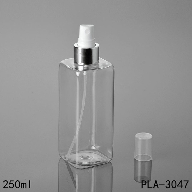 china alibaba manufacturer lotion use pump spray 250ml square plastic pet bottle