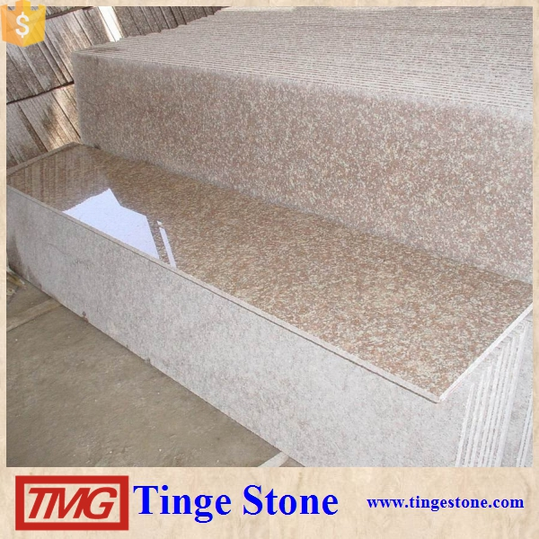 G687 Countertops, Gutian Peach Red Granite Kitchen Worktops