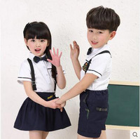 Chinese factory supply customized primary cotton simple short sleeve poplin new models children school uniform