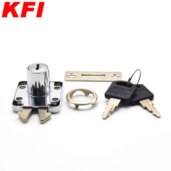 ZINC ALLOY office desk brass key square shaped baby safety drawer lock