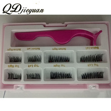 Private Label Synthetic Hair Magnetic False Eyelashes
