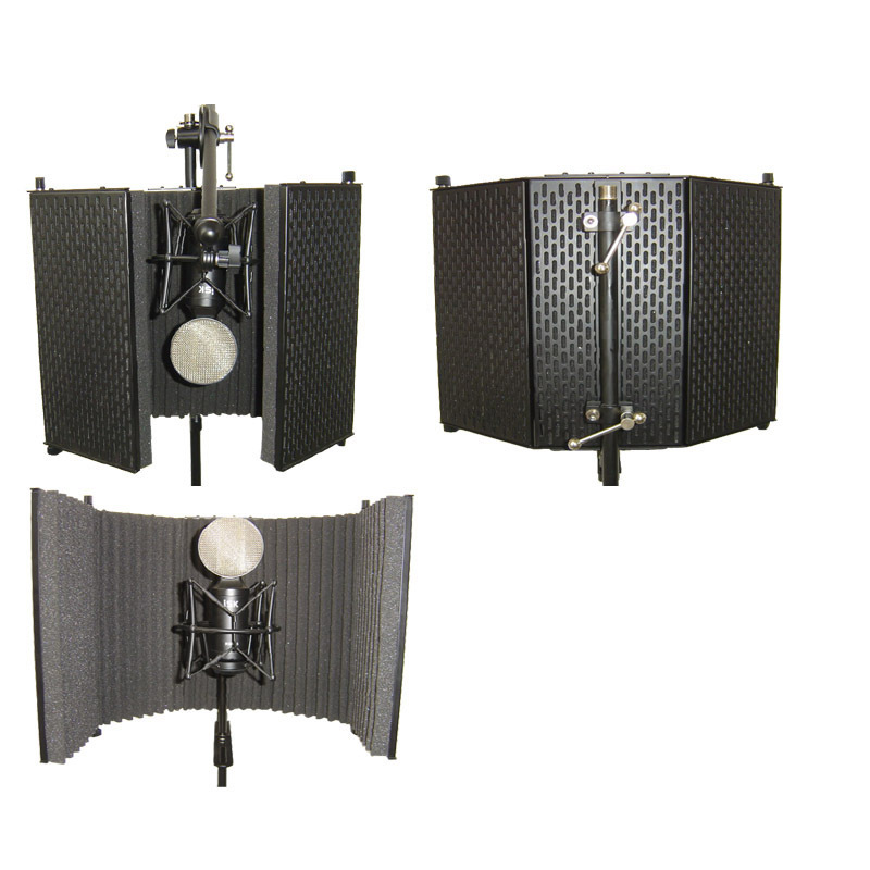 foldable vocal booth microphone reflexion filter