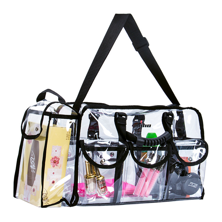 Transparent enchante accessories inc wholesale cosmetic promotional bag lady pu bag