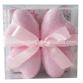 100% handmade macaron heart shape bath bomb gift set for bath and body works