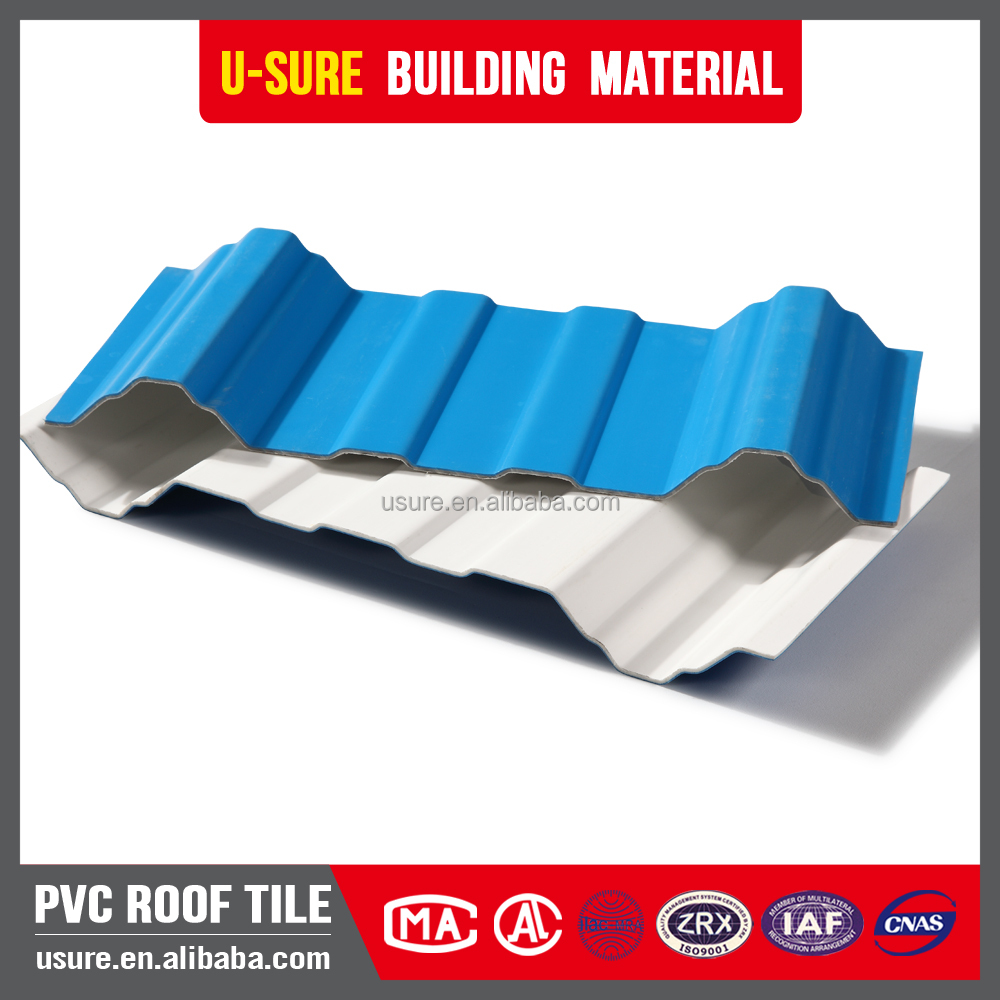 1.2mm thin high quality 2017 home use waterproof laminate pvc roof tiles
