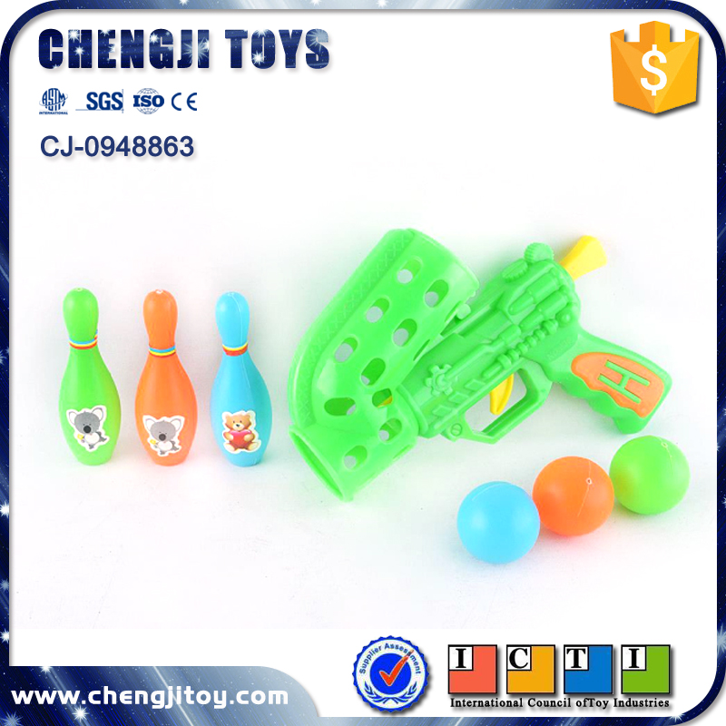 Plastic toy shooting gun mini ping pong ball gun set paintball guns for sale