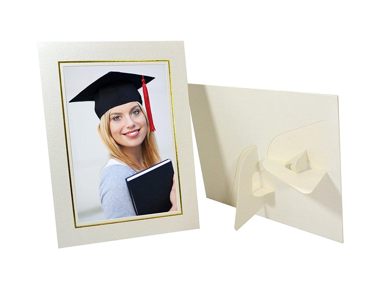 M: Cardboard Easel Picture Frames 5x7 Black w/Gold Foil Cardboard easel photo frames