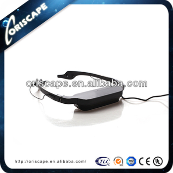 3D glass PC games/ 3D movies/ AV/ VGA/ 72 inch virtual display video glasses