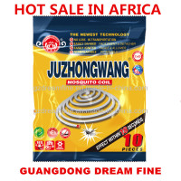 hot sale in Africa JUZHONGWANG new mosquito repellent coil 100% herbal less smoke high efficient strong killer