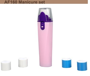 Anbo hot selling cheap fresh manicure kit nail polisher pedicure set 8 attachments for travel