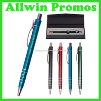 Multi Ring Metal Ball Point Pen With Metal Clip