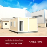 quality container with glass prefabricated container eco prefab cabin houses