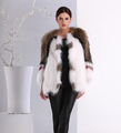 RC3 wholesale knitted raccoon fur coat