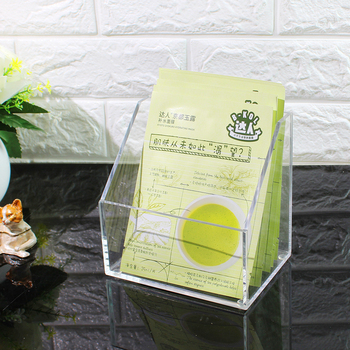 Acrylic mask receiving box transparent counter mask display box table cleaning box