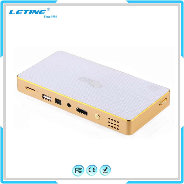 Luxury Portable real 80ANSI lumens Miracast Airplay display DLP wireless pico pocket digital projector
