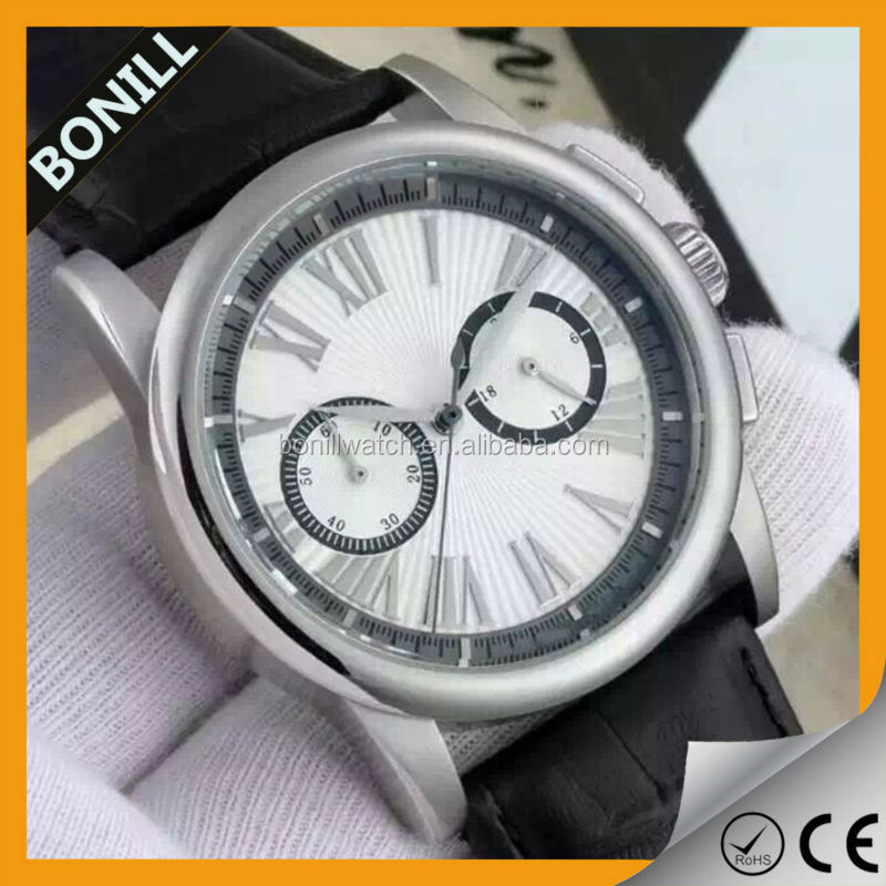 Business chronograph watches for men luxury high quality stainsteel water resistant wrist watch