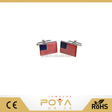 POYA Jewelry American Flag USA America Cufflinks