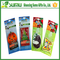 Factory OEM/ODM car air freshener with perfume paper wholesale make hanging paper car air freshener