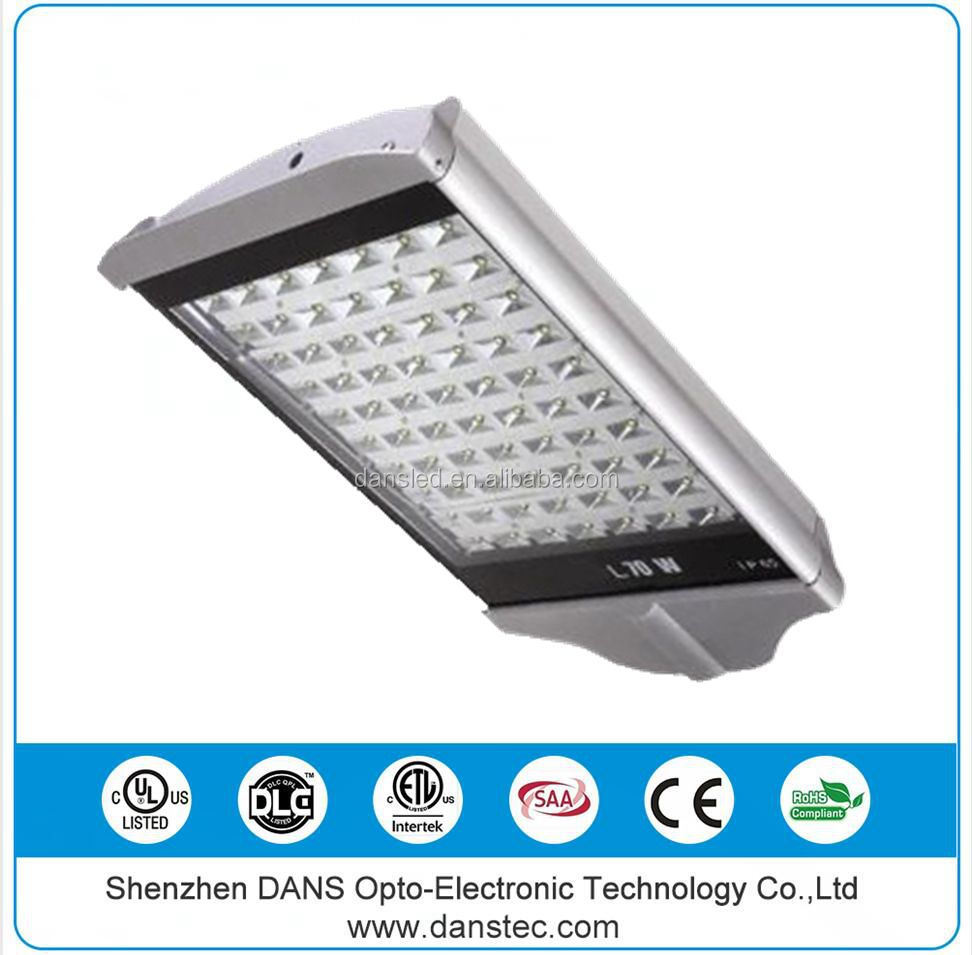UL CE C-tick RoHS SAA ETL High luminaire 70w led street light solar light