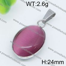 Likable retro style pendant stainless steel birthstone ring pendant