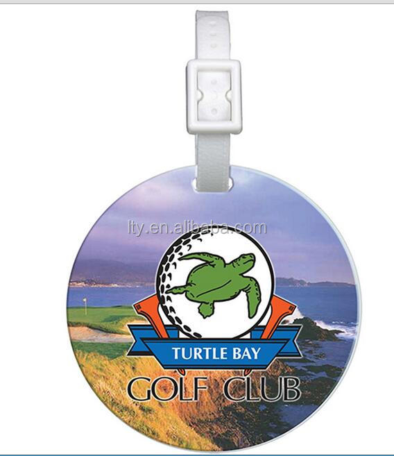 custom design durable plastic wholesale luggage blank golf bag tag