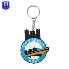 Promotional Gift Custom Trinke 3D Logo Key Holder Rubber Keyring PVC Keychain