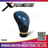 SK903 Xracing leather gear shift knob boot,automatic shifter knob,auto carbon fiber gear knob
