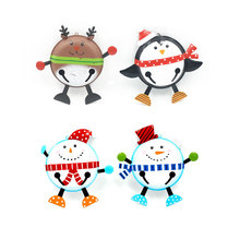 2017 Popular design small handmade christmas painted jingle bells
